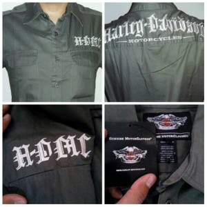 Kemeja Harley Davidson (Hd) - Green Army