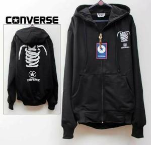Sweater Converse Shoes / Tali / Jaket Fleece Hoodie / Zipper /sleting