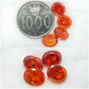 Batu Permata King / Fresh Orange Safir / Sapphire