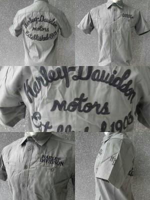 Kemeja Harley Davidson 99067 Olive