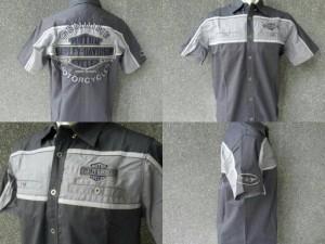 Kemeja Harley Davidson 99078 Charcoal