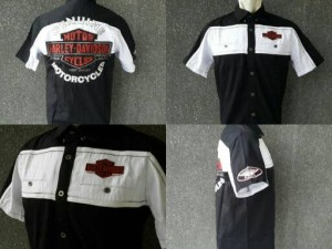 Kemeja Harley Davidson 99078 Black White