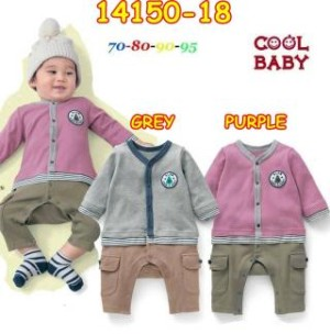 Romper bayi laki-laki cool baby purple and grey