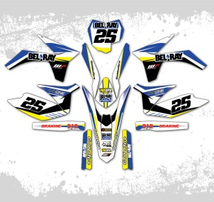 decal ktm 250 six days