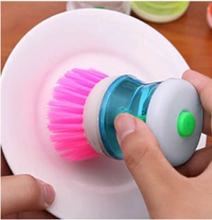 sikat dispenser sabun cair alat pencuci panci piring gelas cuci murah