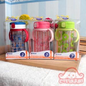 Richell Clear Straw Bottle Mug - Cangkir Latihan Anak
