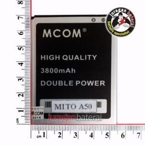 Batre/Batrei/Baterai MITO FANTASY A50 (BA-00046) - 3800mAh MCOM Double Power