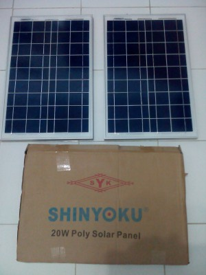harga Solar Cell / Panel Surya 20WP SHINYOKU 156P-20 Tokopedia.com