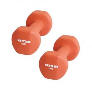 KETTLER Neoprene Dumbell (4kg/pair) Orange