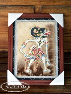 Lukisan Wayang Hanoman Si Kera Putih 35 x 45 cm2 Kulit Kambing ASLI