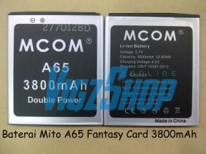 Baterai Battery Mito A65 Fantasy Card 3800mAh MCOM Double Power
