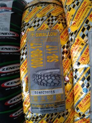 Ban Semi Cross Swallow SB117 Street Enduro 100/80 - 17