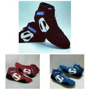 Sepatu balap drift sparco bisa custom bordir nama