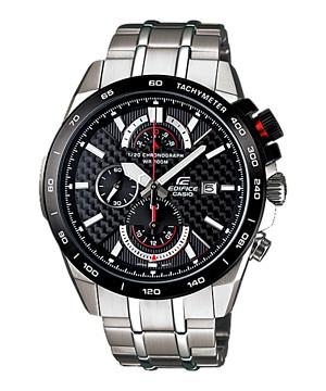 harga jam tangan CASIO EDIFICE ORIGINAL BM RANTAI SILVER PLAT BLACK efr520sp Tokopedia.com