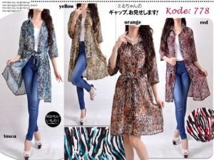 Cardigan/ Baju Fashion Wanita Chiffon Jumbo Big Size XXL 09037