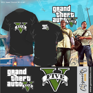 harga KAOS GAME GRAND THEFT AUTO : GTA V - MERK ORIGINAL GAMERDISTRO BANDUNG - BKN KASET PC GAMES DVD PS3 XBOX Tokopedia.com