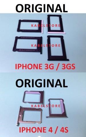Sim Tray iphone 4s 4g / 3g 3gs Tempat Kartu Sim Card Apple Original