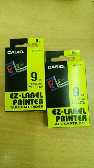 EZ-Label Printer Casio 9mm Black Ink Yellow