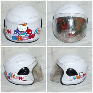harga Helm Anak GSP Kids XTD Show Hello Kitty Tokopedia.com