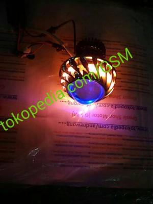 harga headlamp projector LED aes angel eyes lampu utama hid motor Tokopedia.com