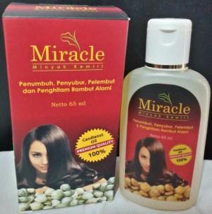 jual minyak kemiri miracle penumbuh penyubur rambut wanita atasi Gambar Minyak Kemiri Miracle