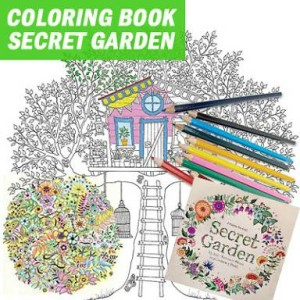 Coloring Book Buku Mewarnai Secret Garden Size Kecil