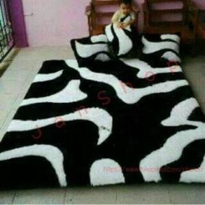 Karpet Santai Zebra Hitam Putih
