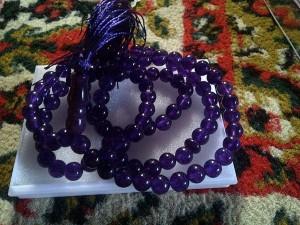 Tasbih batu Kecubung ungu isi 99
