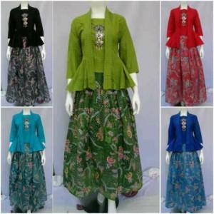 baju batik wanita model rok,bahan katun,baju kondangan terbaru