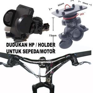HOLDER HP GPS - JEPIT STANG MOTOR / SEPEDA