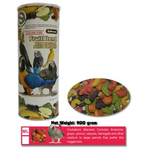 Pakan Burung : ZuPreem FruitBlend ML 900 gram (Kakatua, Macaw,dll)