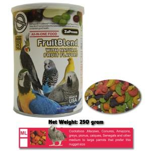 Pakan Burung : ZuPreem FruitBlend ML 250 gram (Kakatua, Macaw,dll)