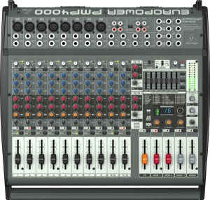 Behringer PMP4000 [ PMP 4000 ] 16 Channel Powered / Power Mixer Audio