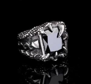 harga Luxuriouz Titanium Black Onyx Dragon Claw Ring / Cincin Pria Titanium Tokopedia.com