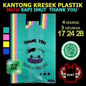 KANTONG KRESEK THANK YOU 17 24 28 Packing Karakter Sapi Warna Plastik