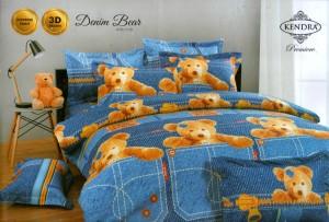 Bedcover Kendra Premier 180 motif Denim Bear
