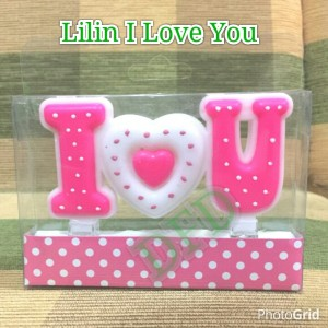 Kado Valentine Gift / Lilin I Love You