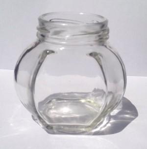 Botol Toples Selai Kaca 210ml : Oval & Segidelapan, TANPA Penutup