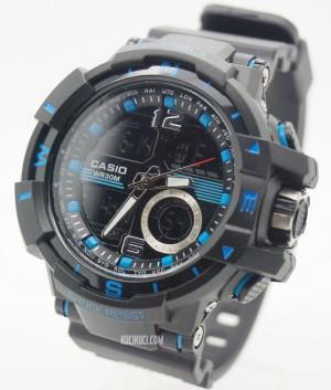 G-Shock Dual Time D6876 Black Blue