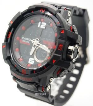 G-Shock Dual Time D6876 Black Red