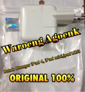 Batok Charger IPad 4, IPad mini, IPad 1/2/3 - 12W ORIGINAL 100%