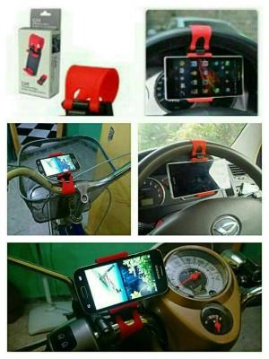 car/bike/motor steering wheel phone socket holder Universal