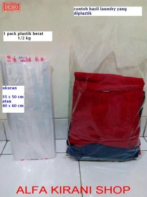 harga Plastik Laundry cuci baju (laundri plastic) celana jaket pakaian Tokopedia.com