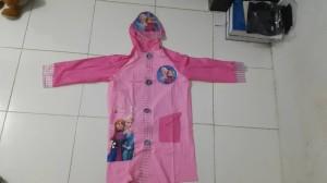 harga jas hujan terusan frozen / jas hujan anak pink Tokopedia.com