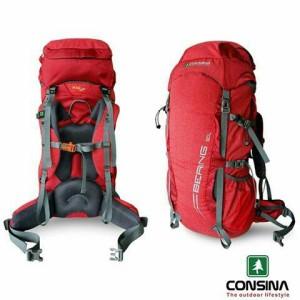 Tas Carrier/Keril/Gunung Consina Bering 60L Merah