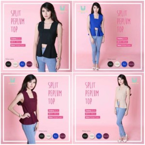harga SPLIT PEPLUM TOP blouse dress baju pesta wanita murah Tokopedia.com