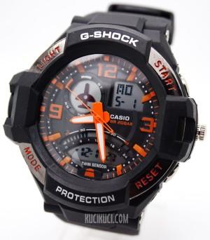 G-Shock GA 1000 Black Orange