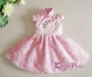 BAJU ANAK - KOREA PINK CNY PINK DRESS ROSE