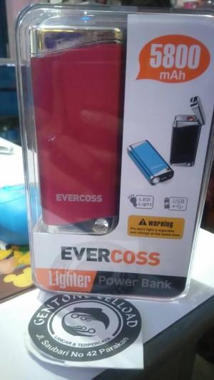 Power Bank Evercoss 5800 + Lighter