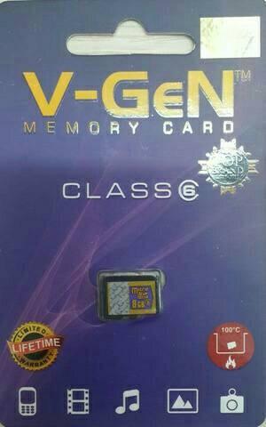 kartu memori micro Sd Vgen 8gb